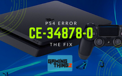 PS4 Error ce-34878-0 | The Fix